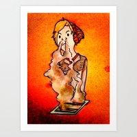 pewdiepie Art Prints featuring I need a smoke by ElectricShotgun