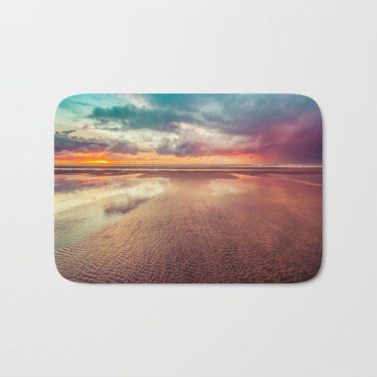 Beach Love Ocean Sunset Bath Mat