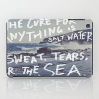 salt water iPad Cases featuring Salt Water by Leah Flores