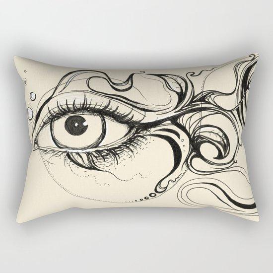 Eye Fish Doodle Rectangular Pillow
