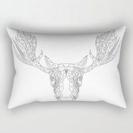 Bull Moose Head Doodle Rectangular Pillow
