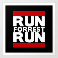 forrest gump Art Prints featuring Forrest Gump Run by Spyck