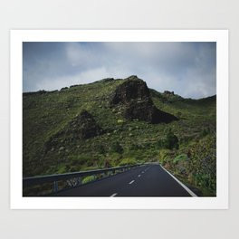 Road to Los Gigantes, Tenerife Art Print