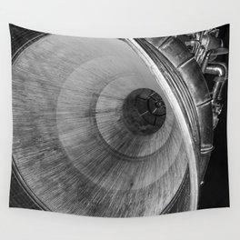 B&W Rocket Engine Wall Tapestry