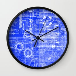 Blueprints Wall Clock