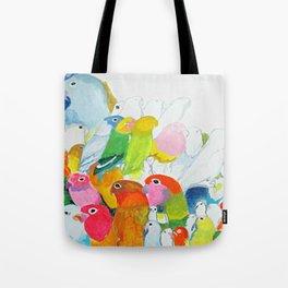 Flock of Birdies Tote Bag
