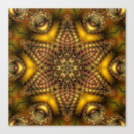 Withering of leaves Canvas Print