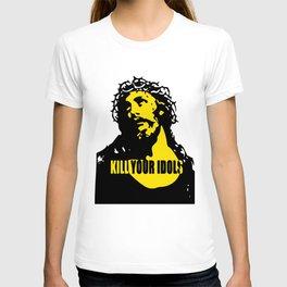 As Worn By Rose Kill Your Idols Mens Guns  Roses jesus T-shirt