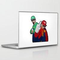 rap Laptop & iPad Skins featuring Luigi and Mario rap clash by Komrod