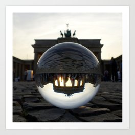 Brandenburg Gate, Berlin Germany / Glass Ball Photography Art Print