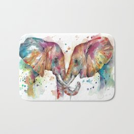 Sunset Elephants Bath Mat