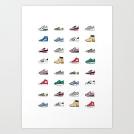 Kicks Art Print