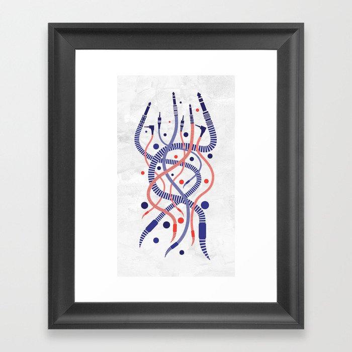 Jackworms Framed Art Print