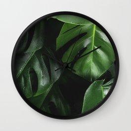 Monstera Plant Wall Clock