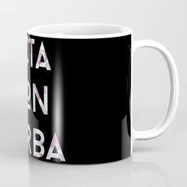 Acta Non Verba - Purple on Black Coffee Mug
