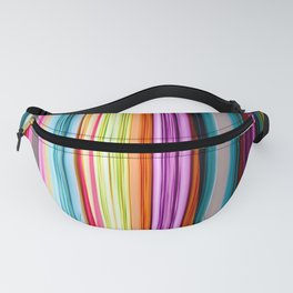 Rainbow colored striped abstract geometrical pattern Fanny Pack