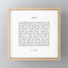 Travel Far and Often Framed Mini Art Print