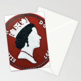 Queen Elizabeth -5 pence - The Queens Mint Series Stationery Cards