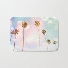 Bubble Gum Palm Trees Bath Mat