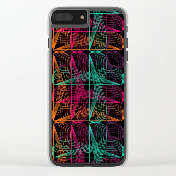 Neon threads Clear iPhone Case