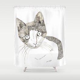 Humphrey the cat Shower Curtain