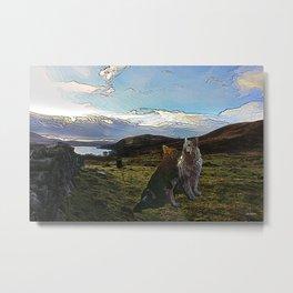 Sheba and Storm 02 Acrylic Metal Print