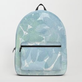 Vintage Blue Leaf Abstract Backpack