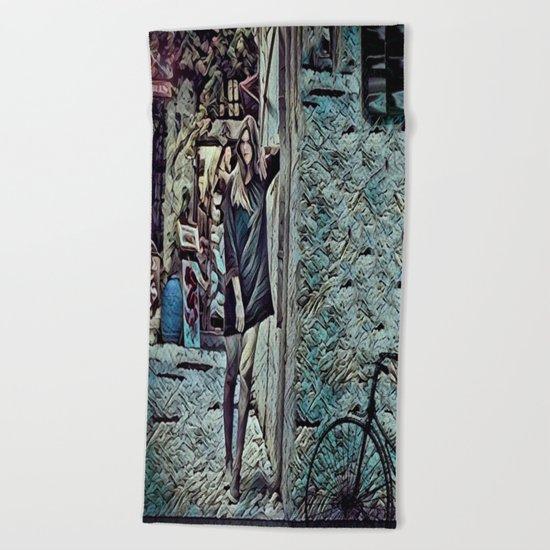 Un Petit Village Français Beach Towel