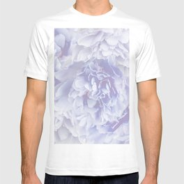 Flower Bouquet In Pastel Blue Color - #society6 #buyart T-shirt