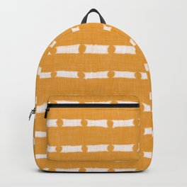 BOHO WOODBLOCK LINEN . MANDARIN WHITE Backpack