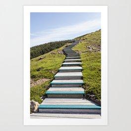 stairs up the hillside Art Print