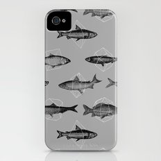 Fishes In Geometrics (Grey) iPhone (4, 4s) Slim Case