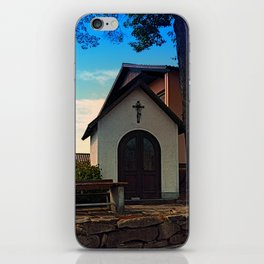 Taking a rest at the chapel iPhone Skin