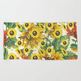 Sunflower Bliss Beach Towel
