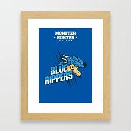 Monster Hunter All Stars - Blue Rippers Framed Art Print
