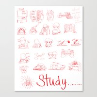 study Canvas Prints featuring Study... by David Nuh Omar