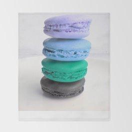macarons / macaroons Blue Lavender Teal Slate Throw Blanket