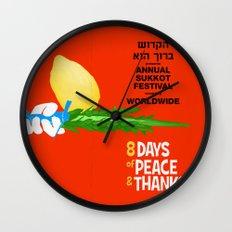 Sukkot Poster Wall Clock