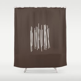 Wood in Brown - Minimalist Feng Shui - by Friztin Shower Curtain