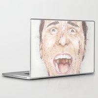 american psycho Laptop & iPad Skins featuring American Psycho by JadeJonesArt