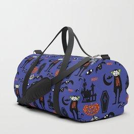Cute Dracula and friends blue #halloween Duffle Bag