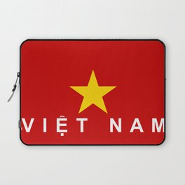 vietnam country flag viet nam name text Laptop Sleeve