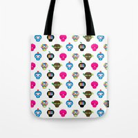 ufo Tote Bags featuring Ufo by Plushedelica