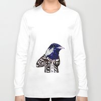 leather Long Sleeve T-shirts featuring leather bird by Hitch