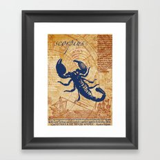 scorpius | skorpion Framed Art Print