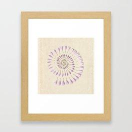 Flower Spiral on Vintage Paper Framed Art Print