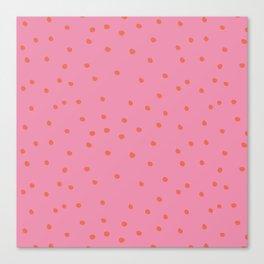 rosarita: polka dot punk Canvas Print