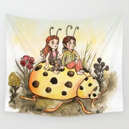 Ladybug Friends Wall Tapestry