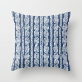 Cable Knit Navy Throw Pillow