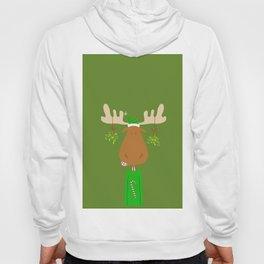 Merry Christmoose - Christmas Mistletoe Moose Hoody